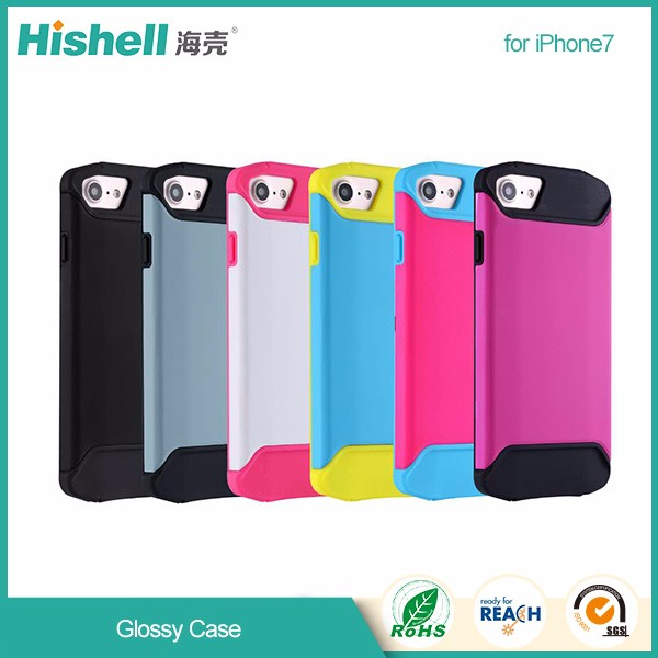 Good-looking 2 in one glossy cell phone case for iPhone7