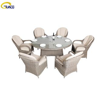 Cheap outdoor garden rattan wicker tables and chairs
