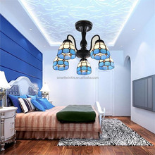 modern American style new design solutions 5 light E27 Tiffany chandelier 2017 hot sales LED pendant light