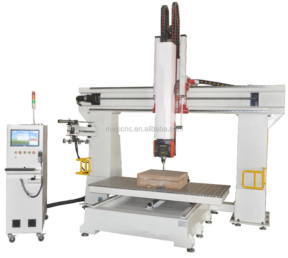 New Design 3D Woodworking CNC Milling Machine 5 Axis CNC Router For Foam Wood Plastic