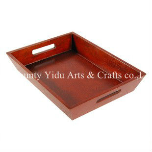 hot sale cheap wooden food tray food carrying tray made in China