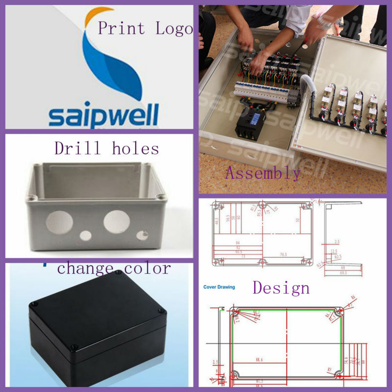 Manufacturer Saipwell Aluminum Amplifier box, Aluminum die casting amplifier enclosure