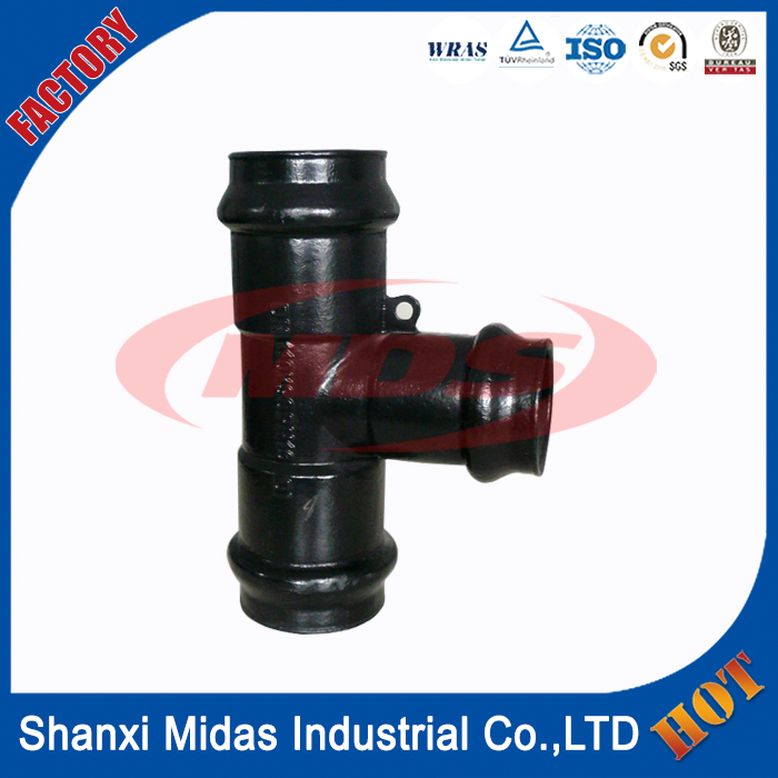 awwa c153 epoxy coating ductile iron pipe fitting pn16 for gas