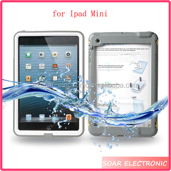 Wholesale new style waterproof table case for Ipad Mini,waterproof protective tablet case for Ipad Mini