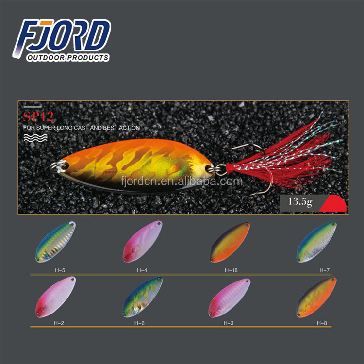 FJORD 13.5g Fishing Spoon Metal Fishing Lures Spots Winter Salmon Trout Fish Spoon Swimbait Lure