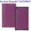 2015 China Wholesale 3 Folding Flip Leather Cover Case for Asus ZenPad C 7.0 Z170CG