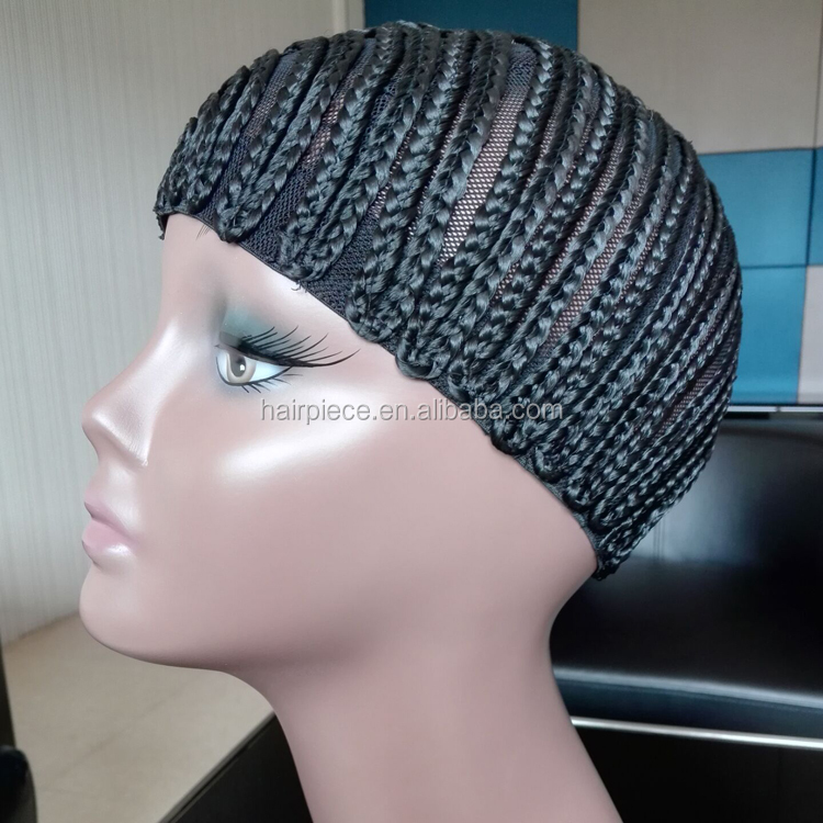 2016 Summer Fashionable Cheap Soft Synthetic Crochet Braid Cap Wholesale For The Black