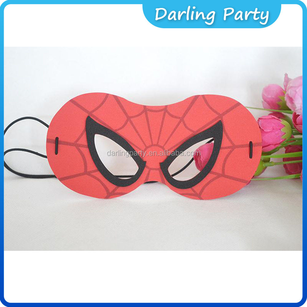 new style eva spider-man eva party masks with elastic for kids