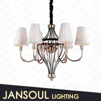 Traditional gentle design goden and black victorian 6 light iron hotel pendant light