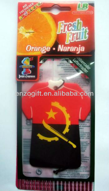 World cup Football Club souvenir paper freshener for Car, T-shirt freshener Guangzhou