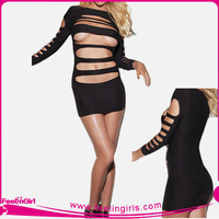 Low Price Black Bandage Women Sexy Lingerie