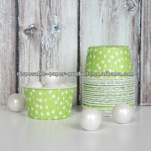 LIME GREEN POLKA DOT CANDY CUPS Baking Cups Candy Cups, Nut Cups, Portion Cups cupcake liners Greaseproof Cupcake/Muffin Baking