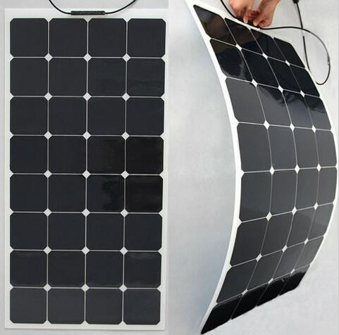 Sunpower cell China high efficiency 100w flexible solar panel