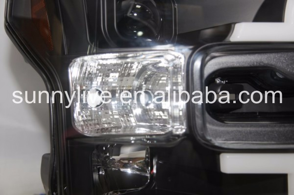 For FORD for Raptor 2015-2016 Head Light Black Color SN