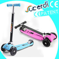 2014 Patent foldable 4 wheel kids frog scooter