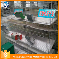 New design galvanized low carbon steel layer rabbit cage of rabbit