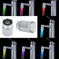 7 Colors Change Kitchen Water Tap Faucet RGB Glow Shower LED Faucet Light Aerator