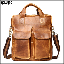 European leather shoulder strap bag for men
