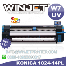 Low cost high speed flex banner printing machine With konica 512i Print Head Allwin C512i