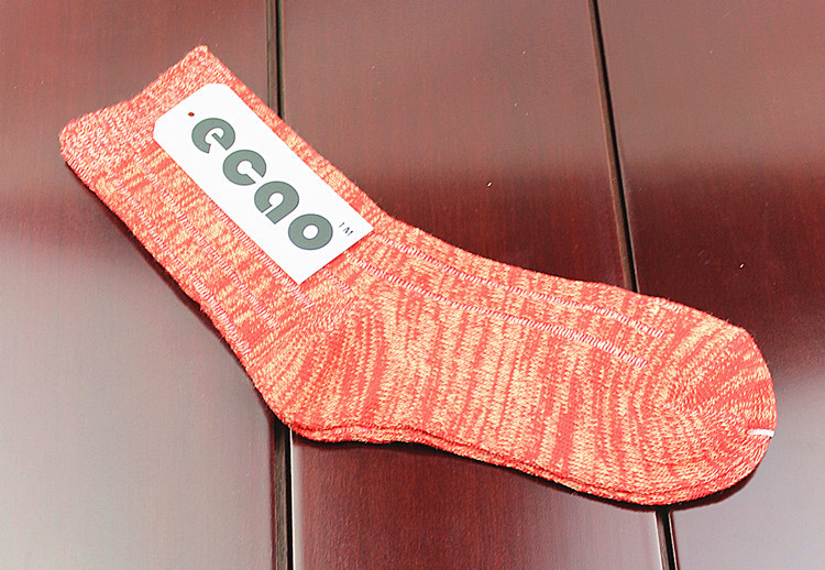 Wholesale woolen yarn knitted lady stocking acetate rayon pure color simple women socks