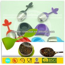 Silicone Stir Beat No Scratch leaf shape silicone tea infuser