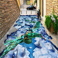 PVC 3D effect mural Avatar figure customized design floor covering durable and long lifespan