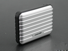 11200mAh high capacity Travel suitcase / luggage shaped power bank with led torch light