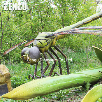 Robotic insect dragonfly model for botanical garden