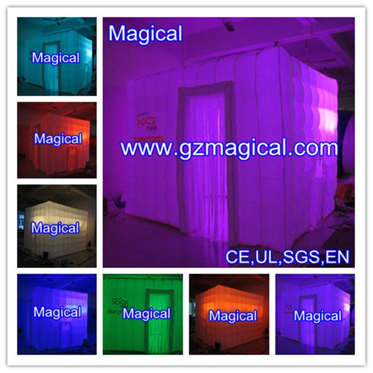 Mobile square LED show display inflatable photo booth
