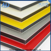 Sound insulation outdoor plastic wall covering acp decoration panel