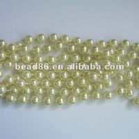 10mm classy handmade pearl strand bead necklace factory direct bead
