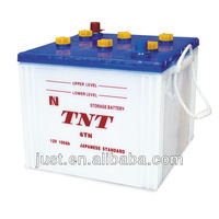 Dry-charged popular storage battery 6TN 100AH 12V