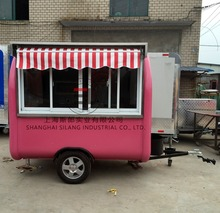 model SL-6 Various styles mobile food trailer used food trucks food cart Can be customized