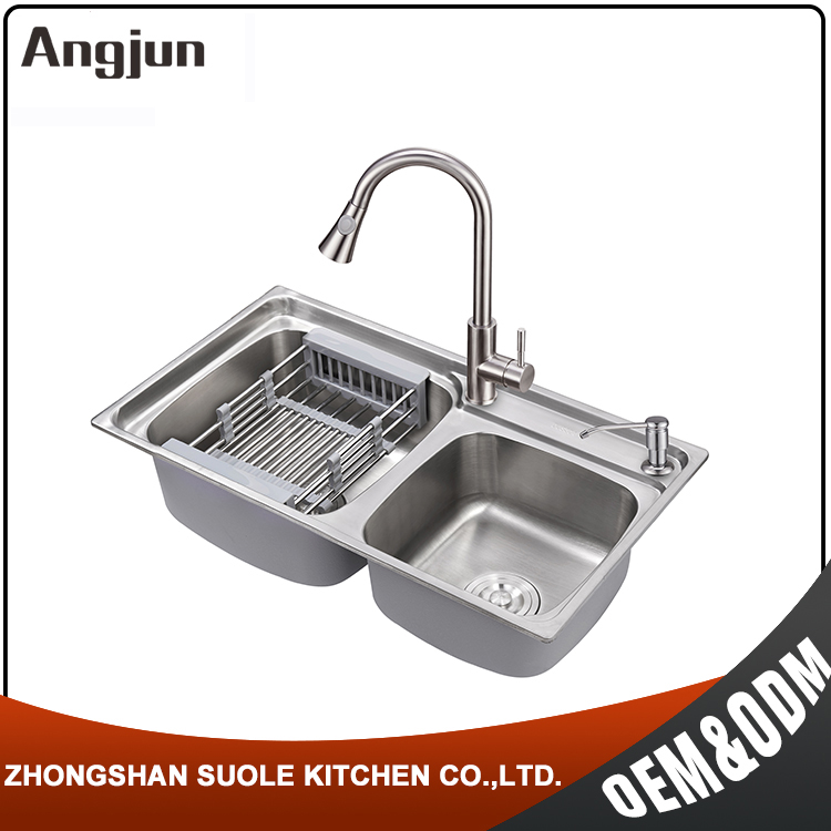 OEM Modern Round Corner Edges Vegetable Washing Sink for kitchen