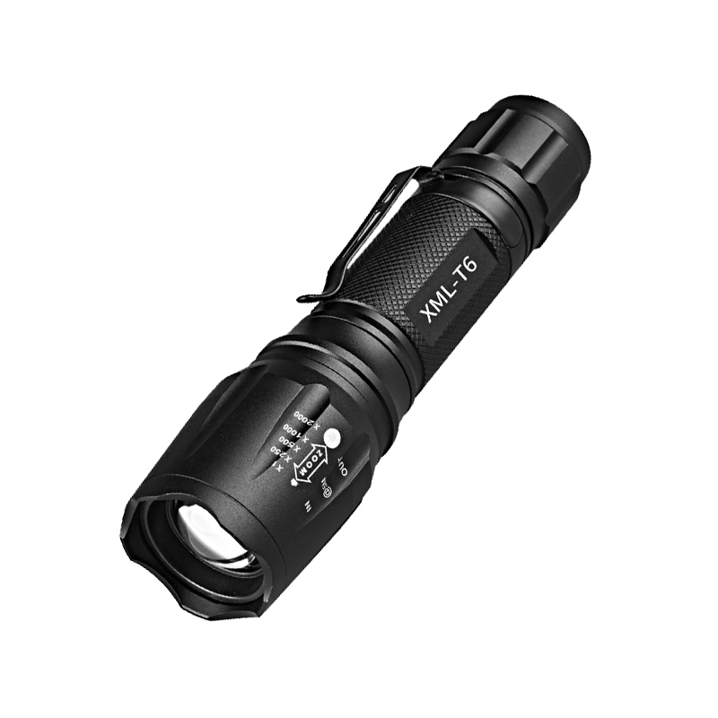 CYSHMILY Adjustable Focus SOS Torch Led Flashlight with Belt Clip