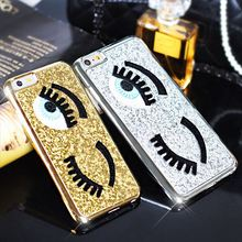 Fashional Cover For iphone 5 5S 6 6 plus Flirting Eyes Glitter Brilliant 3D Hard Cover Cases phone shell Hot sale