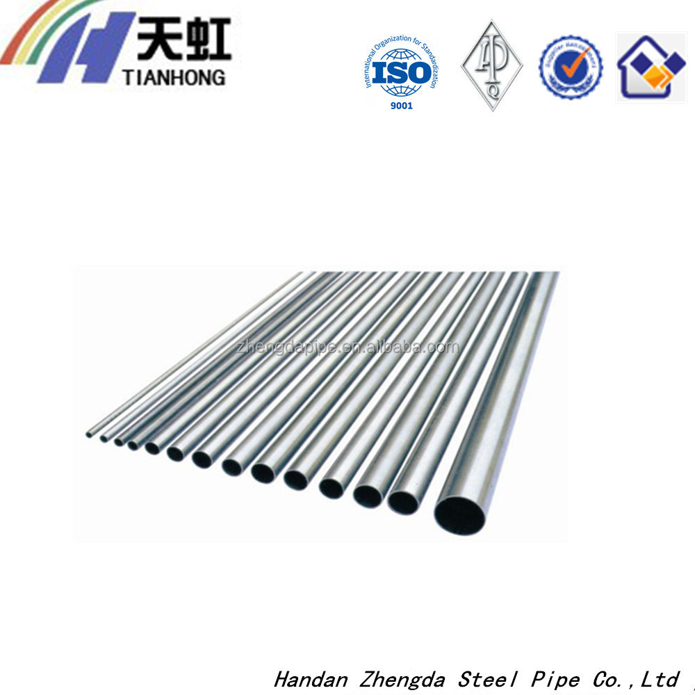 Galvanized steel round pipes for construction