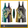 Professional OEM design sublimated Wrestling singlet/Wrestling suit/3 D wrestling dress