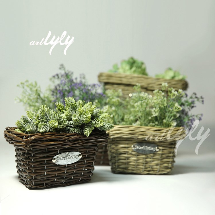 2014 hot sale small wicker baskets cheap for flowers
