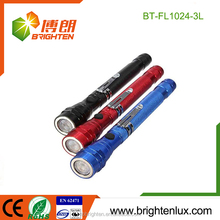 Alibaba Wholesale Colorful Aluminum Alloy 4*LR44 Button Cell Operated Telescopic Pick-up Tool Magnetic 3 Led flexible work