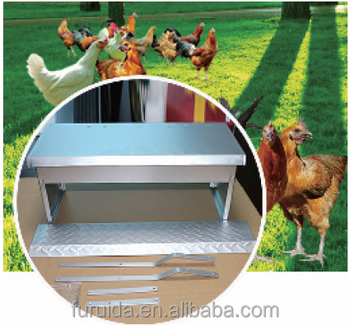 FRD automatic chicken aluminum / galvanized treadle feeder