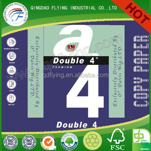 double a copy paper or letter size copy paper in pallet packaging