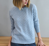 P18B136TR 100% cashmere plain knitted lady o neck pullover sweater