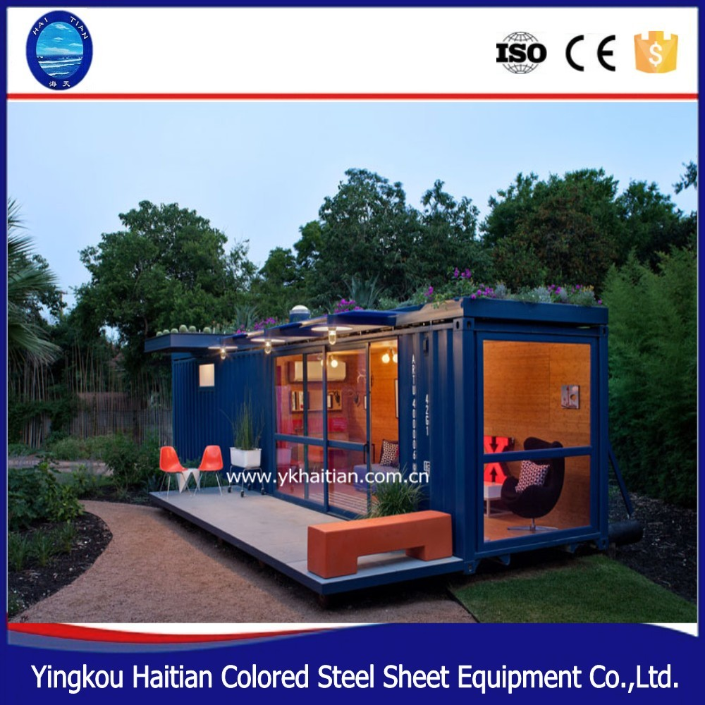 High Quality Container home prefabricated glass house Shipping 20 and 40 feet high-quality steel framed prefab home container