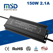 Waterproof 110V/220V input voltage constant current led driver 60-72v dc 2.1a