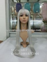 Long Janpanese mixded grey cosplay party wig