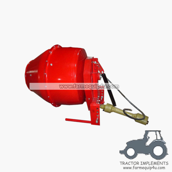 5CM tractor 3point hitch mounted 5cubic cement/concrete mixer with pto shaft included