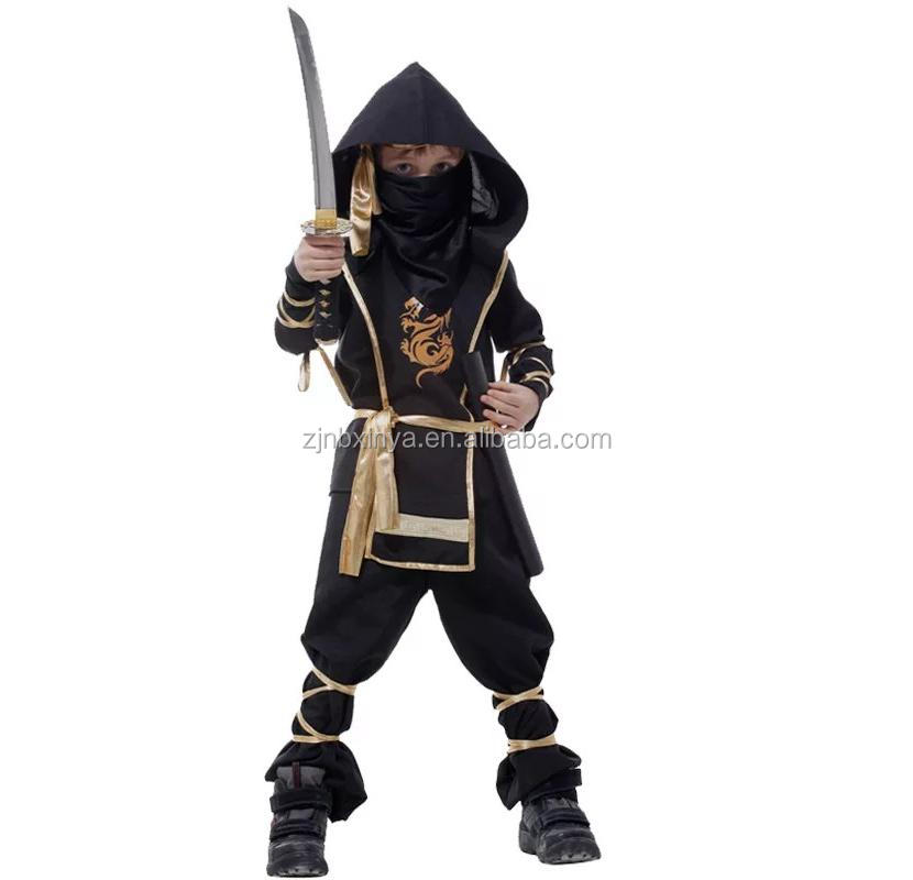 A Carnival Party children Gloden Dragon Ninja costumes for boys