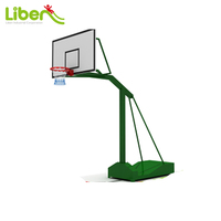 School Fitness Gym Used Plywood Board Steel Frame Basketball Stand for Adult and Teenager