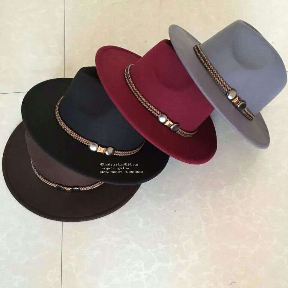 men hats fedora fashion style wholesale felt hillbilly hat